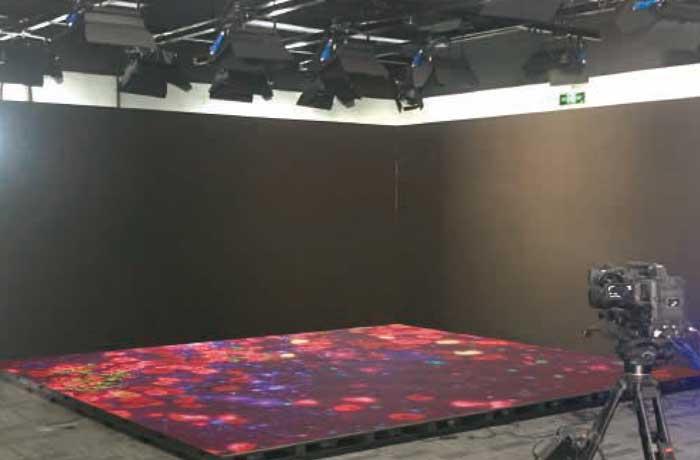 广电直播间led地砖屏案例 Broadcast room -18m²