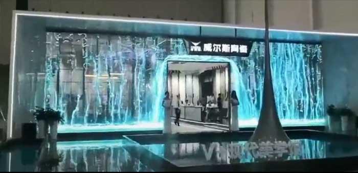 led格栅透明屏案例