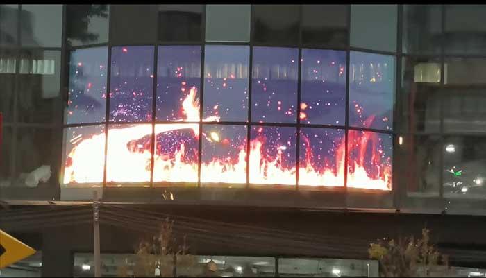 广州羊城秀艺术商业中心LED透明屏项目